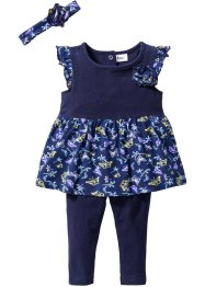 Robe bébé + legging + bandeau (Ens. 3 pces.) en coton bio, bpc bonprix collection
