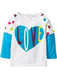 Sweatshirt bébé en coton bio, bpc bonprix collection