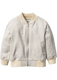 Gilet sweat-shirt, bpc bonprix collection, écru chiné/beige