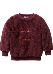 Pull synthétique imitation fourrure peluche, bpc bonprix collection, rouge érable