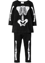 Robe + legging à imprimé squelette Halloween (Ens. 2 pces.), bpc bonprix collection