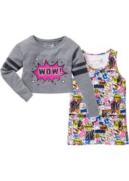 T-shirt boxy + top (Ens. 2 pces.), bpc bonprix collection