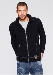 Blouson en maille outdoor Slim Fit, RAINBOW, noir