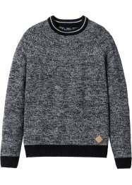 Pull Regular Fit, bpc bonprix collection, gris chiné