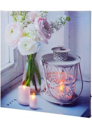 Toile lumineuse à LED Bougies & Bouquet, bpc living bonprix collection