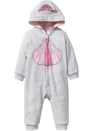 Combinaison sweat bébé en coton bio, bpc bonprix collection, écru chiné