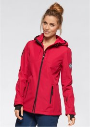Veste softshell, bpc bonprix collection, rouge foncé