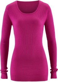 Pull col rond, bpc bonprix collection, fuchsia moyen