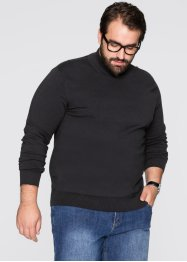 Pull col montant Regular Fit, bpc selection, noir