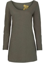 T-shirt long, RAINBOW, olive