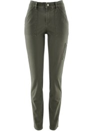 Pantalon avec zip décoratif - designed by Maite Kelly, bpc bonprix collection, olive foncé