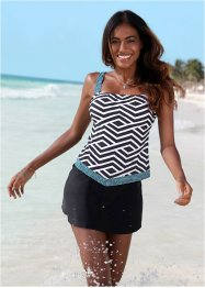 Haut de tankini, bpc bonprix collection, noir/blanc