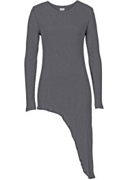T-shirt long, BODYFLIRT, gris