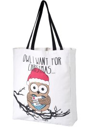 Sac Christmas Owl, bpc bonprix collection