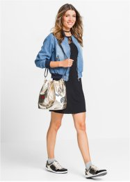 Sac bourse avec patches Marcel von Berlin for bonprix, bpc bonprix collection, bleu foncé