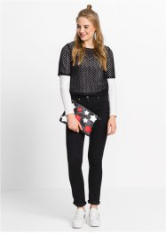 Pochette Star, bpc bonprix collection, rouge/noir/blanc