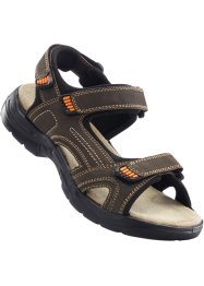 Sandales cuir, bpc bonprix collection, marron