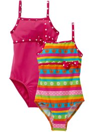 Lot de 2 maillots 1 pièce fille, bpc bonprix collection