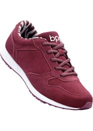 Tennis en cuir, bpc bonprix collection, bordeaux