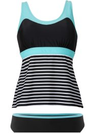Tankini (Ens. 2 pces.), bpc bonprix collection, noir/blanc rayé