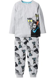 Pyjama (Ens. 2 pces.), bpc bonprix collection, gris clair chiné