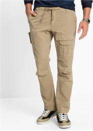 Pantalon cargo Regular Fit Straight, bpc bonprix collection, beige