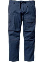 Pantalon cargo Regular Fit Straight, bpc bonprix collection, bleu foncé