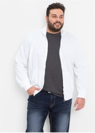 Gilet sweatshirt regular fit, bpc bonprix collection, blanc