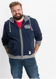 Gilet sweat-shirt Regular Fit, John Baner JEANSWEAR, bleu foncé