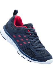 Tennis confortables, bpc bonprix collection, bleu foncé/rouge