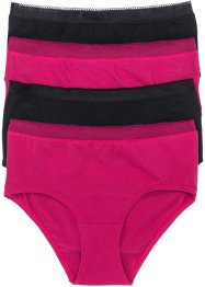 Lot de 4 maxi slips, bpc selection, rouge baie/noir