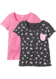 Lot de 2 T-shirts manches courtes, RAINBOW