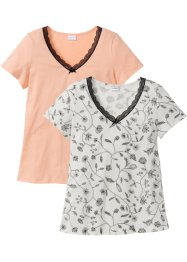 Lot de 2 T-shirts manches courtes coton bio, bpc selection