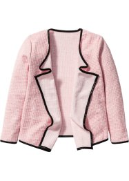Cardigan drapé, bpc bonprix collection, rose/blanc cassé chiné