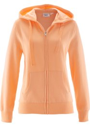 Gilet sweat, bpc bonprix collection, abricot