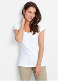 T-shirt manches courtes extensible, bpc bonprix collection