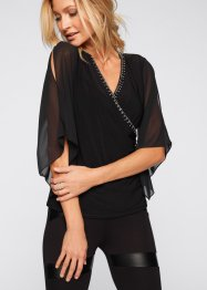 Blouse avec pierres brillantes, BODYFLIRT boutique
