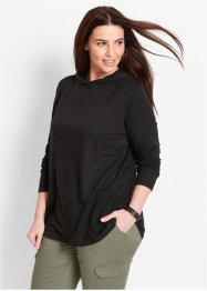 Sweat-shirt manches longues, bpc bonprix collection, noir