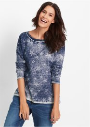 Pull fine maille aspect used, bpc bonprix collection, indigo used