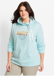 Sweat col roulé, bpc bonprix collection, menthe glaciale imprimé