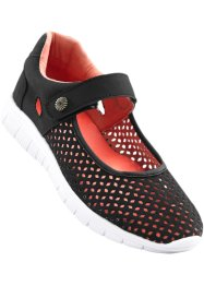 Ballerines sport, bpc bonprix collection, noir/corail
