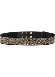 Ceinture extensible tricolore, bpc bonprix collection, noir