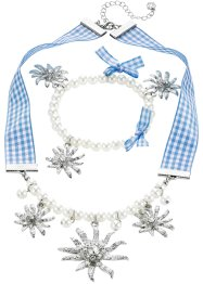Parure collier & bracelet carreaux + perles, bpc bonprix collection