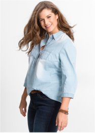 Tunique en jean manches 3/4, John Baner JEANSWEAR, light bleu bleached