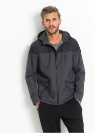 Veste softshell Regular Fit, RAINBOW, gris chiné/noir