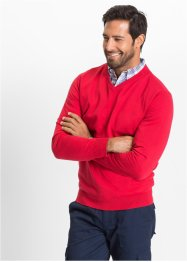 Pull col en V Regular Fit, bpc selection, rouge