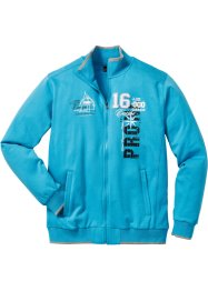 Gilet sweat col montant Regular Fit, bpc selection, turquoise