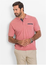 Polo Regular Fit, bpc selection, rouge chiné