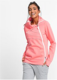 Sweatshirt manches longues, bpc bonprix collection, saumon fluo