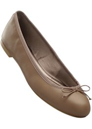 Ballerines en cuir, bpc selection, taupe
